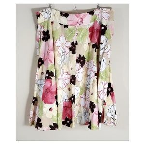 EMMA JAMES Full Mid-Length Spring Floral Skirt